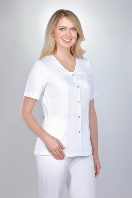 Żakiet medyczny damski biały model 1606 K1
