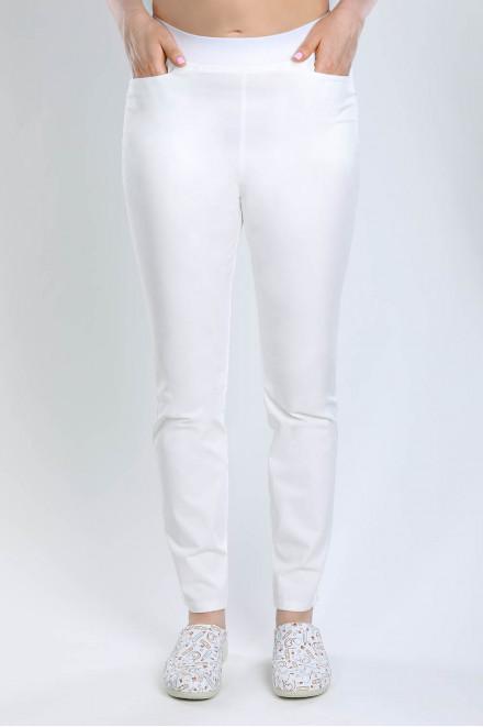 Spodnie medyczne 5026 rurki białe K1